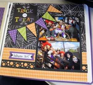 Creative Memories Trick or Treat Page Layout