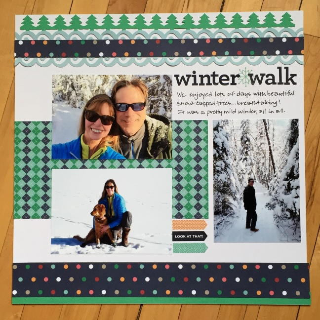 Winter Wonderland Scrapbook Layout Ideas Creative Memories Blog