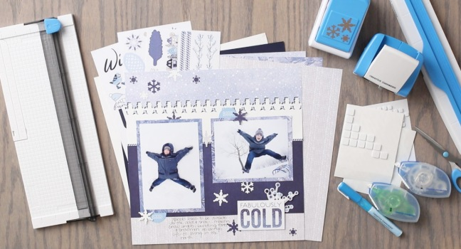 Snowflake-Punch-Snowman-BMC-Glacier-Layout-Project-Creative-Memories
