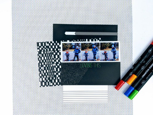 black-white-mat-pack-pen-layout-creative-memories